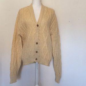 Vintage 80s Pendleton Wool Knit Cardigan Sweater M